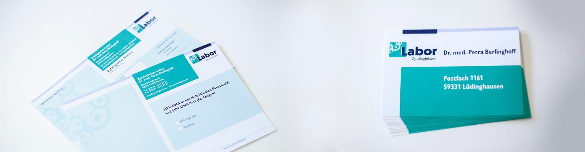Hier sehen Sie die Printmaterialien von Frau Dr. Berlinghoff in Lüdinghausen.